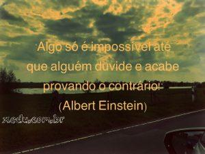 Albert Einstein fala de impossibilidade